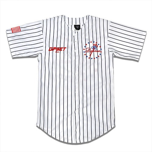 DIPSET U.S.A. ゲームシャツ -DIPKEES BASEBALL JERSEY/ WHITE-