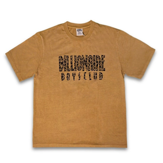 BILLIONAIRE BOYS CLUB Tシャツ -LEOPARD FILL STRAIGHT LOGO T-SHIRT / GOLDEN -