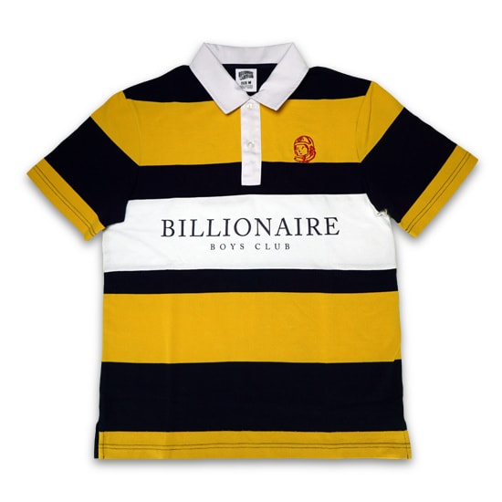 BILLIONAIRE BOYS CLUB ラガーシャツ -HEAVY STRIPE RUGBY / YELLOW-