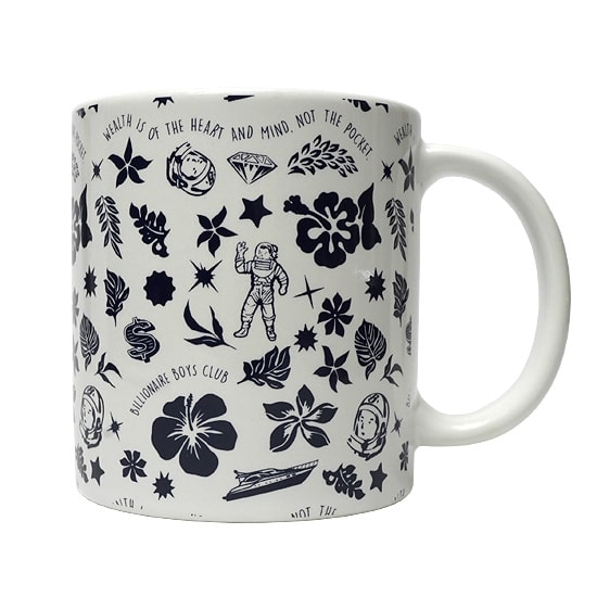 BILLIONAIRE BOYS CLUB マグカップ -FLORAL MUG-