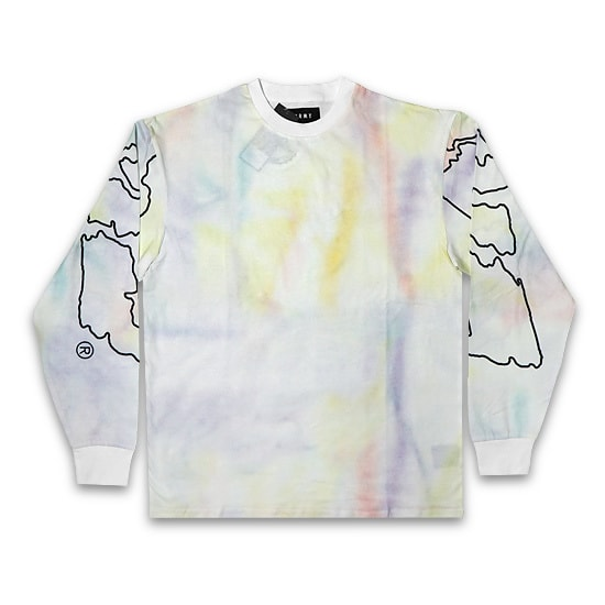 GRMY ロンT -LAUGHING BOY TIE DYE LONG SLEEVE TEE / WHITE-