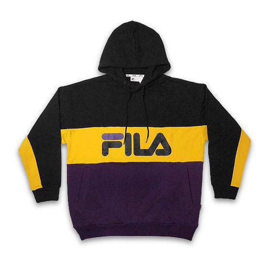 FILA パーカー - PULLOVER HOODIE / COTTON FRENCH TERRY / BLACK -