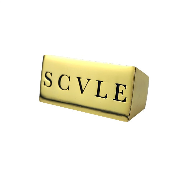 BLACK SCALE リング - SCALE TWO FINGER RING / GOLD -