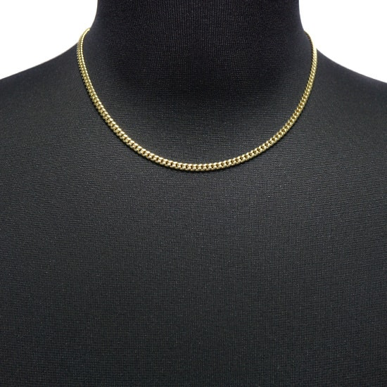 10K Yellow Gold Hollow Miami Cuban [45cm]