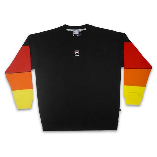 FILA トレーナー - CREW NECK SHIRT / BLACK -