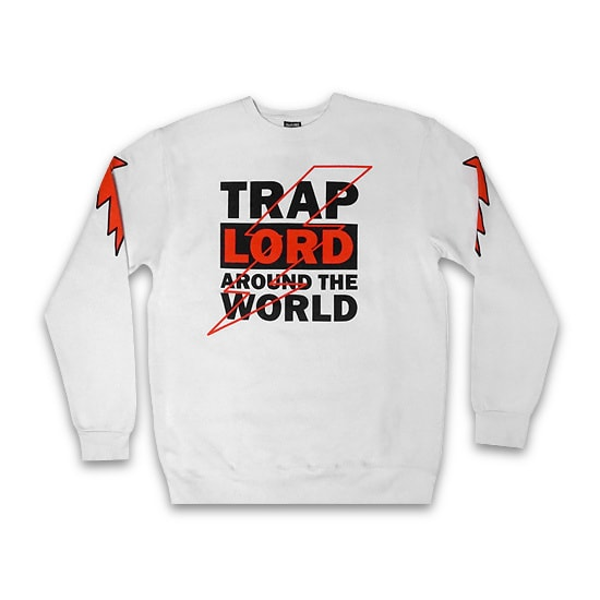 TRAPLORD トレーナー -100% COTTON HIGH VOLTAGE CREWNECK / WHITE-
