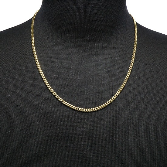 10K Yellow Gold Hollow Miami Cuban [55cm]ACELET / 10MM[20cm]-