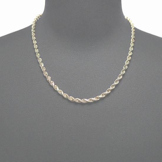 10K Yellow Gold Hollow Rope [55cm]
