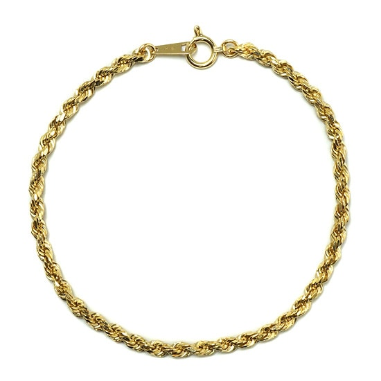 18K Yellow Gold ブレスレット - Rope -