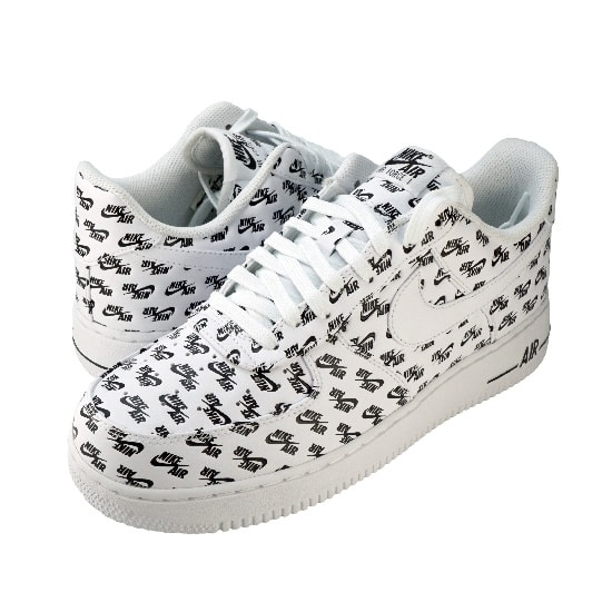 AIR FORCE 1 ALL OVER LOGO -WHITE-