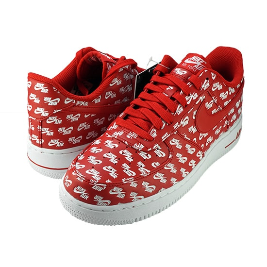 AIR FORCE 1 ALL OVER LOGO -RED-