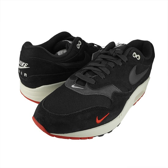 NIKE AIR MAX 1 PREMIUM -BLACK/RED-