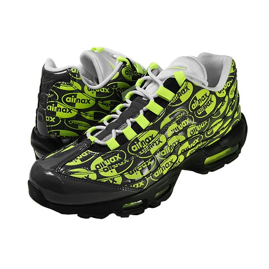 AIR MAX 95 PREMIUM -BLACKBLACK/VOLT-ASH-WHITE-